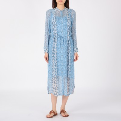 ne Quittez pas(ヌキテパ)/RAYON GGT FLOWER MIX SHIRT DRESS