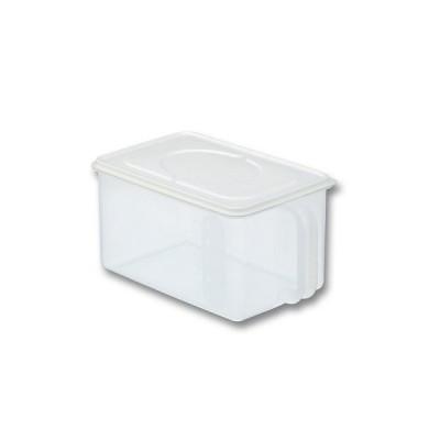 ◆ 保存容器 イノマタ ハンディストッカー 浅型 ホワイト キッチン 保存 ふた付 収納 ケース 4905596122661