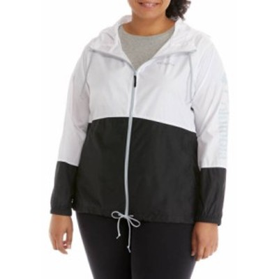 コロンビア レディース ジャケット・ブルゾン アウター Plus Size Logo Flash Forward Windbreaker White/Black