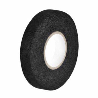 uxcell ワイヤーハーネステープ 布生地テープワイヤーハーネス 高粘度の自動車用 耐摩耗性 接着剤布生地テープ 15x15m ブラック