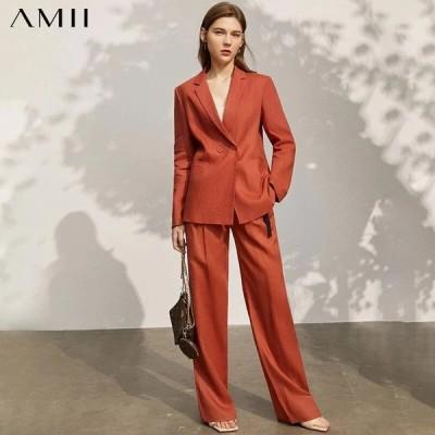 海外輸入アパレル Amii Minimalism Spring New Blazer Women Offical Lady Solid Lapel S
