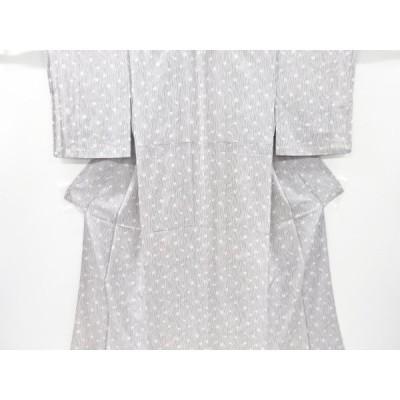 宗sou 作家物 楓に線描き模様小紋着物【リサイクル】【着】