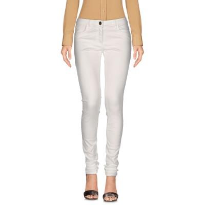 ELISABETTA FRANCHI JEANS パンツ ホワイト 30 コットン 97% / ポリウレタン 3% パンツ