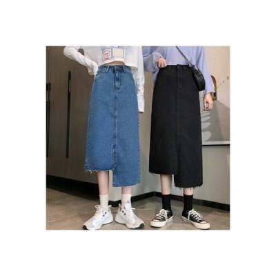 【送料無料】スカート レディース 秋 韓国風 ファッション ウエストスプリット ロングス | 364331_A63614-4820834