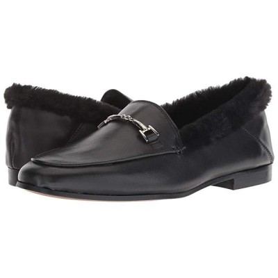 サム エデルマン Loraine Loafer レディース ローファー Black Leather Modena Calf Leather/Short Plush Fur