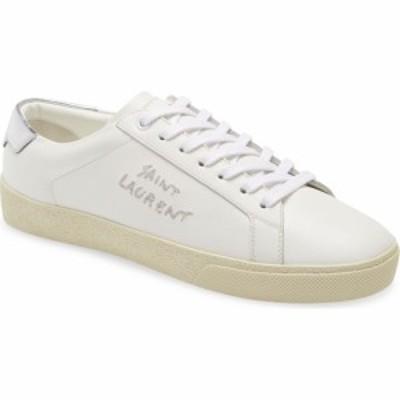 イヴ サンローラン SAINT LAURENT レディース スニーカー ローカット シューズ・靴 Court Classic SL/06 Logo Low Top Sneaker Optique/A