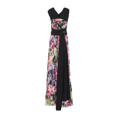 MATILDE CANO ロングワンピース&ドレス ブラック 38 ポリエステル 100% ロングワンピース&ドレス