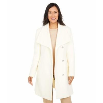 ヴィンスカムート レディース コート アウター Belted Single Breasted Wool Coat V20772X-ZA Off-White