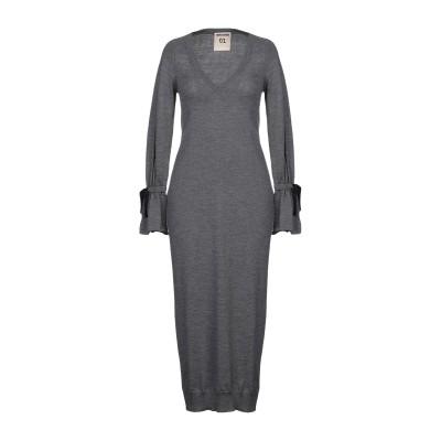 セミクチュール SEMICOUTURE 7分丈ワンピース・ドレス グレー M バージンウール 100% 7分丈ワンピース・ドレス