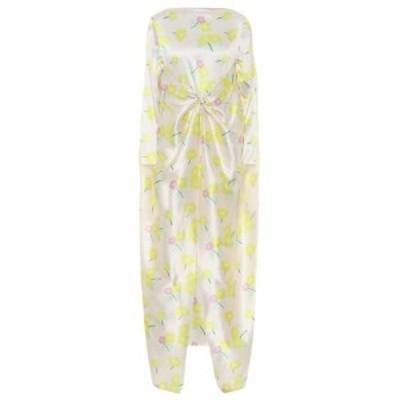 ベルナデッタ Bernadette レディース ワンピース ワンピース・ドレス floral stretch-silk satin dress Yellow