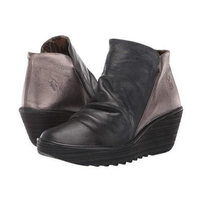 FLY LONDON Yip Wide レディース ブーツ Black/Bronze Janeda/Idra 2