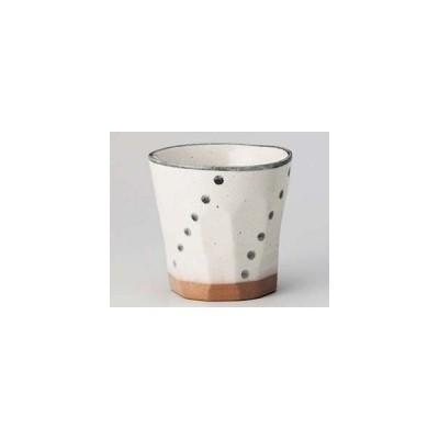 和食器 イ273-117 粉引六点水玉ソギロックカップ