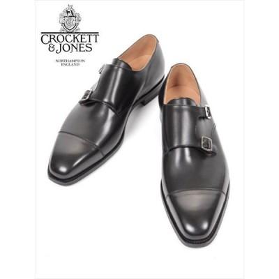Crockett&Jones LOWNDES クロケット&ジョーンズ ダブルモンクストラップ  レザーシューズ ブラック 革靴 ビジネスシューズ 国内正規品