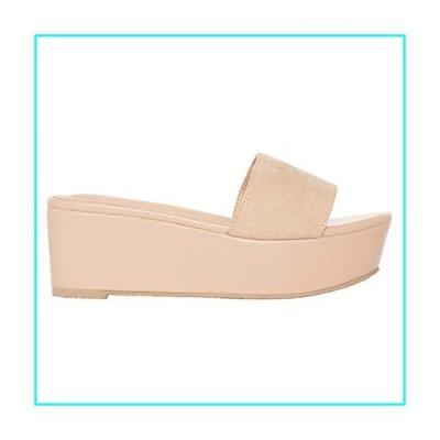 Rohb by Joyce Azria Marant Open Toe Slip On Casual Platform Slide Sandal (Nude Faux Suede) Size 7.5