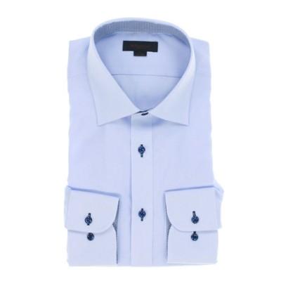 形態安定抗菌防臭スリムフィット ワイドカラー長袖ビジネスドレスシャツ/ワイシャツ