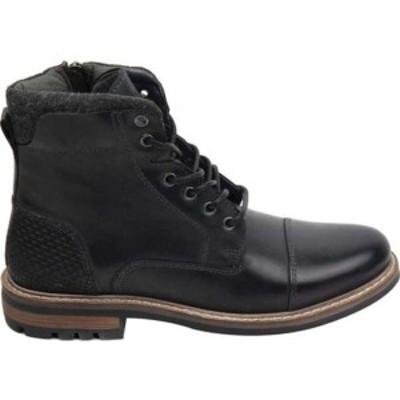 クレボ メンズ ブーツ&レインブーツ シューズ Hammersmith Cap Toe Boot Black Leather