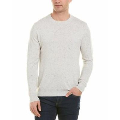 ファッション トップス Qi Cashmere Crewneck Sweater M White