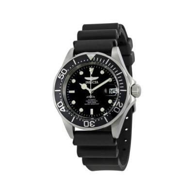 腕時計 海外セレクション Invicta Pro Diver オートマチック スチール ブラック ラバー メンズ 腕時計 9110