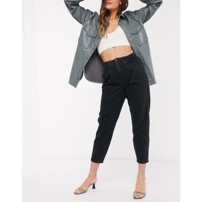 リバーアイランド River Island レディース ジーンズ・デニム ボトムス・パンツ tapered peg jeans in washed black ブラック