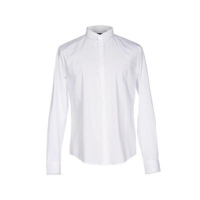 アルマーニ ジーンズ ARMANI JEANS シャツ ホワイト S 76% コットン 21% ナイロン 3% ポリウレタン シャツ