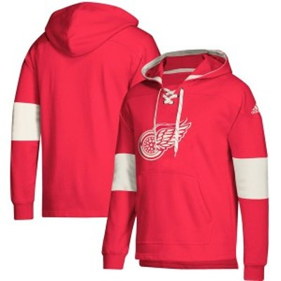 アディダス メンズ パーカー・スウェット アウター Detroit Red Wings adidas Jersey Lace-Up Pullover Hoodie Red