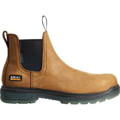 アリアト Ariat メンズ ブーツ チェルシーブーツ ワークブーツ シューズ・靴 Turbo Chelsea CSA Waterproof Carbon Toe Work Boots Bark