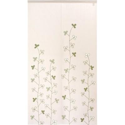 のれん 暖簾 洋風 ライン調三つ葉  85×150cm 日本製
