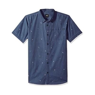 海外より出荷【並行輸入品】O'NEILL メンズ カジュアル モダンフィット 半袖 織りボタンダウンシャツ US サイズ: Large カラー: ブル