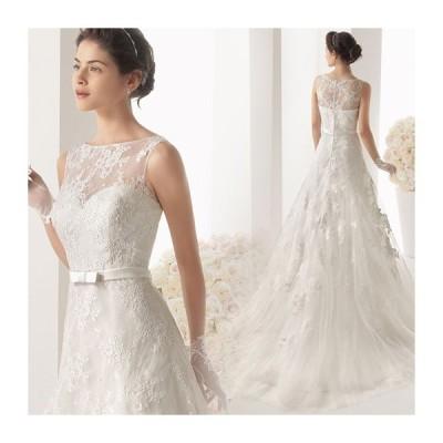 ウェディングドレス マーメイドライン ウエディングドレス 安い 花嫁 ロングドレス 披露宴 マーメイドドレス 二次会 結婚式 ブライダル サッシュベルト