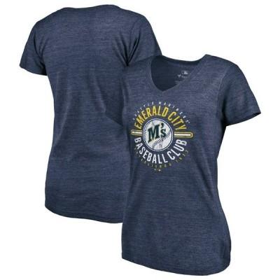 ファナティクス ブランデッド レディース Tシャツ トップス Seattle Mariners Fanatics Branded Women's Hometown Tri-Blend V-Neck T-Shirt