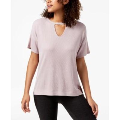 Calvin Klein カルバンクライン ファッション トップス Calvin Klein NEW Pink Womens Size Small S Keyhole Short Sleeve Blouse