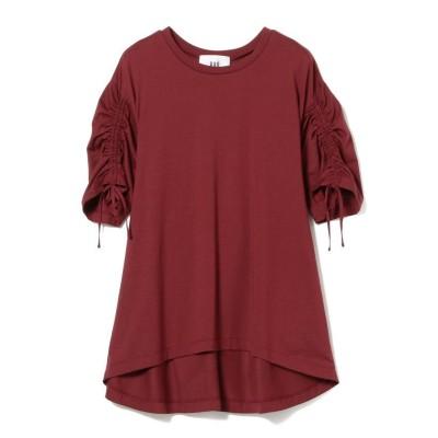 【ビームス アウトレット】 RBS / アーム ギャザー バック レイヤー Tシャツ レディース BORDEAUX ONESIZE BEAMS OUTLET