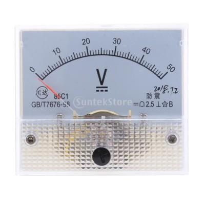高品質 85C1 DC アナログパネル 電圧計 全14種 アナログ電流計 交換性 - 0-50 V
