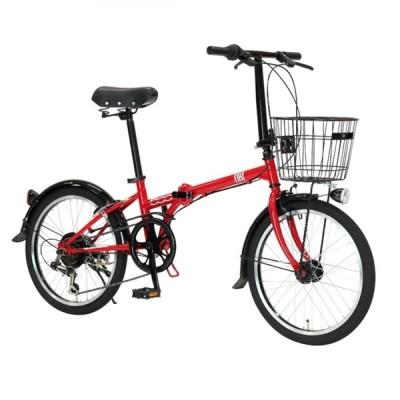 折り畳み自転車 FIAT FDB206L (レッド)  フィアット FDB 206L FOLDING BIKE フォールディングバイク