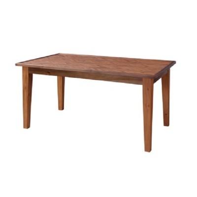 ダイニングテーブル ノック 150 BR  (ヘリンボーン,天然木,テーブル,4人用,スタイリッシュ)