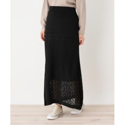 SHOO・LA・RUE / 【フリーサイズ】透かし編みロングスカート WOMEN スカート > スカート