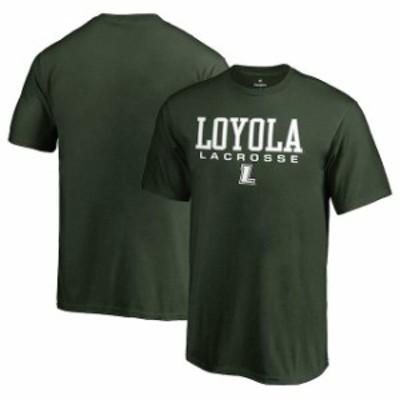 Fanatics Branded ファナティクス ブランド スポーツ用品  Fanatics Branded Loyola Greyhounds Youth Green True Sport Lacrosse T-Shir