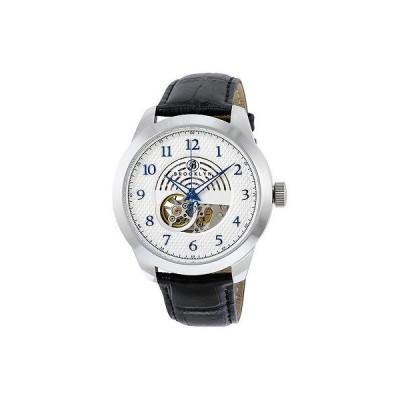 ブルックリンウォッチ 腕時計 Brooklyn Carlton スケルトン メンズ オートマチック シルバー ダイヤル メンズ 腕時計
