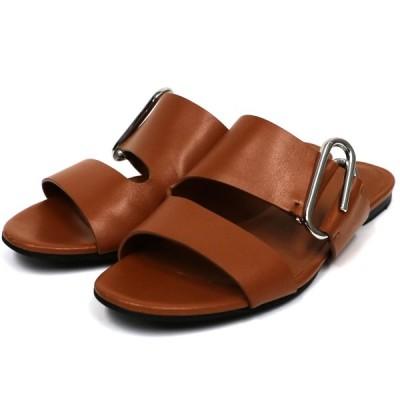 3.1 phillip lim 19SS Alix Leather Slidesベルトサンダル ブラウン サイズ:36 (下北沢店) 200727