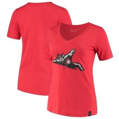 アンダーアーマー レディース Tシャツ トップス Richmond Flying Squirrels Under Armour Women's Performance V-Neck T-Shirt