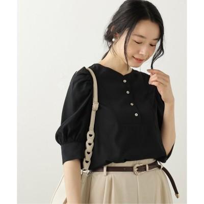 【フレームスレイカズン】ドレスシャツ風ボリューム袖ブラウス