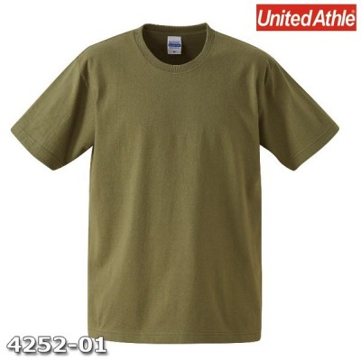 Tシャツ 半袖 メンズ オーセンティック スーパーヘビー 7.1oz M サイズ ライトオリーブ 無地 ユナイテッドアスレ CAB