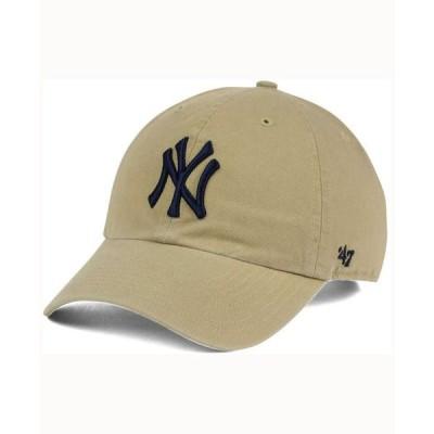 47ブランド メンズ 帽子 アクセサリー New York Yankees Khaki Clean UP Cap