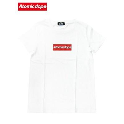 Atomicdope レディースTシャツ 白 Box Logo Tee White アトミックドープ / サイズM