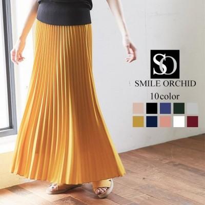 プリーツ ロング スカート マキシスカートリネン風 スカート skirt00002