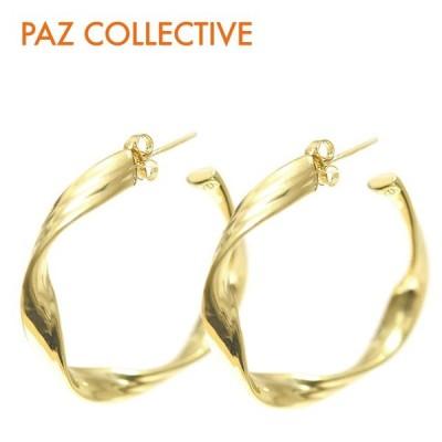 ≪PAZ COLLECTIVE≫ パズ コレクティブ リボン シェイプ フープ ピアス ゴールド Ribbon Hoops (Gold)