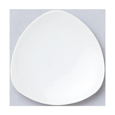 100個〜 オリジナル陶器 名入れ 16cm皿_トライアングル ホワイト (個箱は別途お見積)