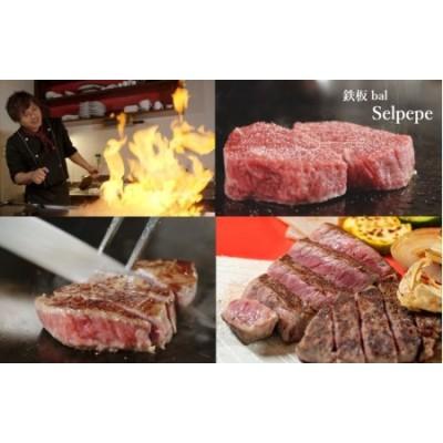 24-1【鉄板bal Selpepe ~セルぺぺ~】ふるさと納税特別コース<1名様>お食事券