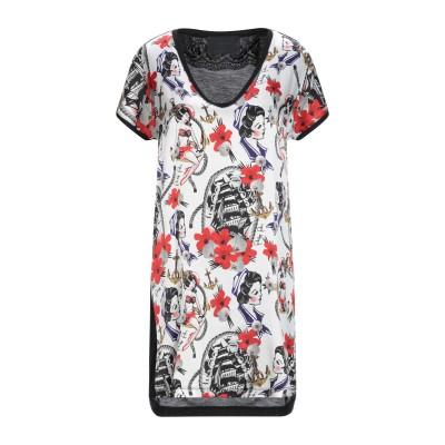 PHILIPP PLEIN ミニワンピース&ドレス ホワイト XS シルク 96% / ポリウレタン 4% ミニワンピース&ドレス