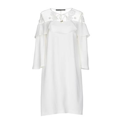 アンナリータ エンネ ANNARITA N ミニワンピース&ドレス ホワイト 40 ポリエステル 97% / ポリウレタン 3% ミニワンピース&ド